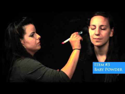 Special Effects Makeup - Making a Scar with Glue and Tissue Paper