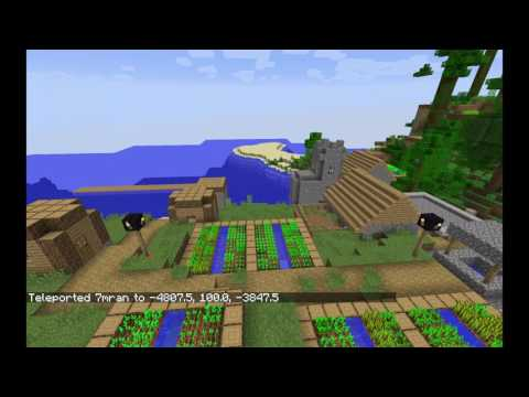 Survival in Minecraft 1.12 Locate Mansion, End City, Village, Monument, Temple, Stronghold Easily