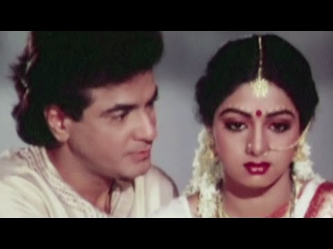 Jeetendra and Sridevi on their first night - Suhaagan, Romantic Scene 5/13