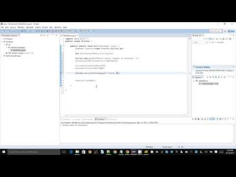 Java+Eclipse - Modulus operator demo