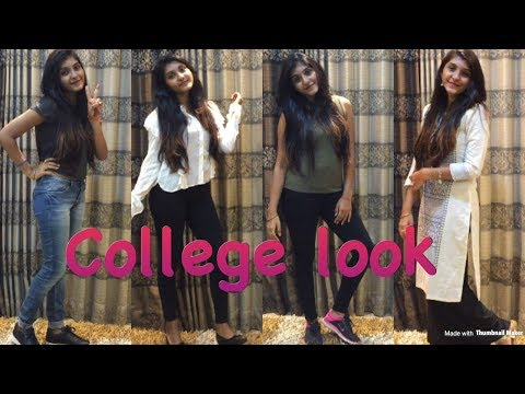 Everyday College Look||CUTE|EASY IN 5 MINS||MAKEUP+OUTFIT+HAIRSTYLES