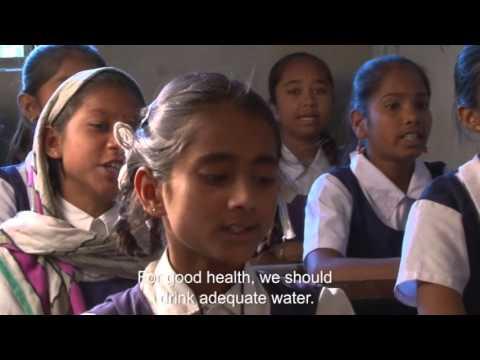 13-year old Manju avoid drinking water