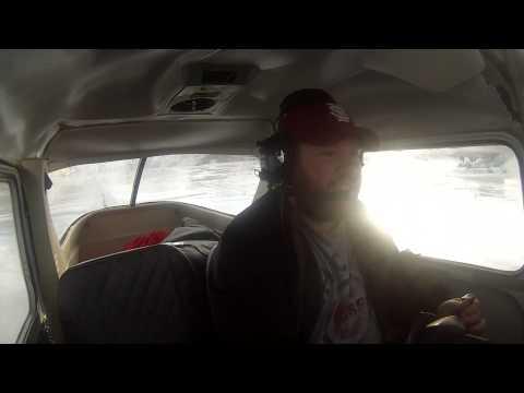Alaska Aviation - Cessna 150 Flight in Heavy Turbulence - Full Flight
