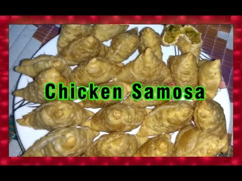Chicken Samosa - Chicken Kheema Samosa Recipe - Very Tasty & Easy to make @ Home
