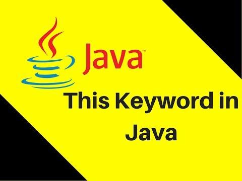 8.14 This Keyword in Java