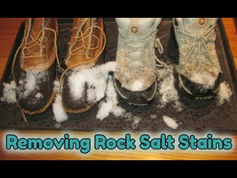 How to Remove Winter Rock Salt Stains From Car / Home Carpets, Floors, Shoes and Clothing