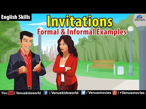 English Skills - Formal & Informal Invitations