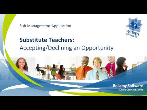 Substitute Teachers: Accepting / Declining an Opportunity