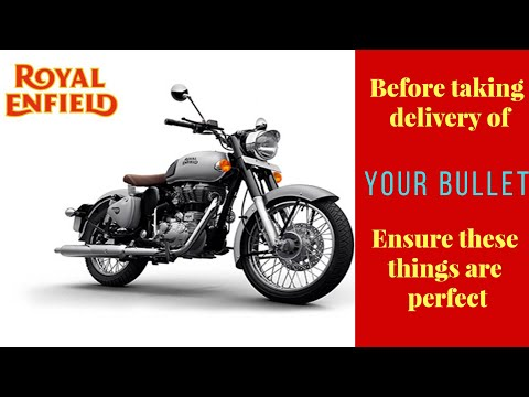 Royal Enfield Delivery | Pre-Inspection Check points for Classic 350 | Electra 350