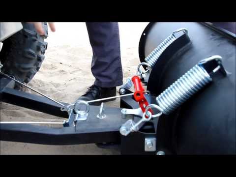 Atv quick attach front mount snow plow by Iron Baltic