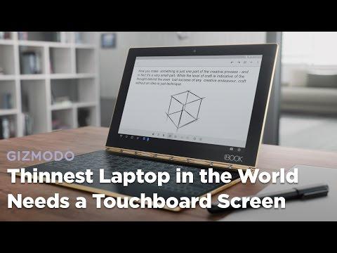 The World's Thinnest Laptop Needs a Touchscreen Keyboard