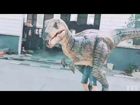 Attractive dinosaur mascot walking costume dinosaurios costumes