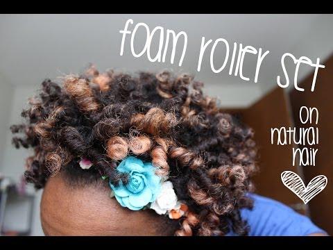 13 - Foam Roller Set on Short Natural Hair