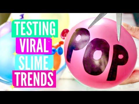 TESTING VIRAL INSTAGRAM SLIME TRENDS! Making Slime Backwards, No Bowl Slime and Balloon Slime