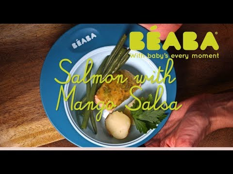 Beaba Babycook Recipe - Salmon with Mango Salsa - Direct2Mum