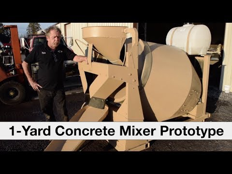 One-Yard Concrete Mixer (Prototype) || MiniMax Mixers