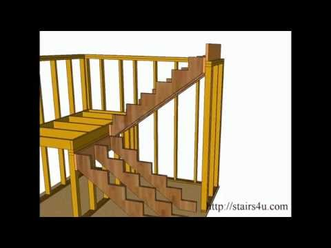 How to Build and Frame Stairs Landings - U-Shaped Stairs