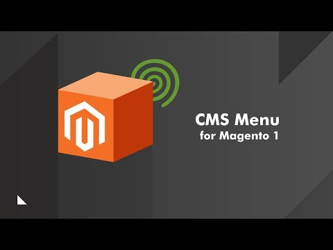 How to add menus with the Custom CMS Menu Extension for Magento®