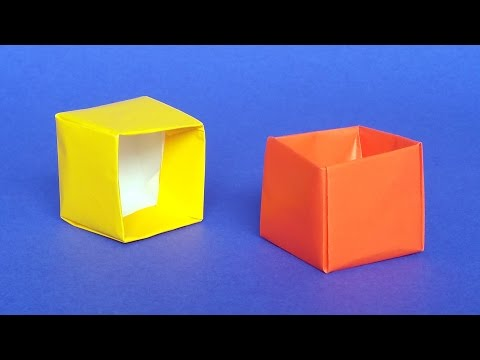 How to Make an Origami Cube Box with One Piece of Paper - DIY Tutorial