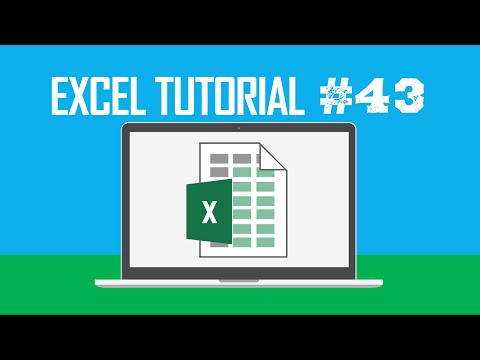 Excel Tutorial #43:  Hiding a Worksheet (Customize the Quick Access Toolbar)