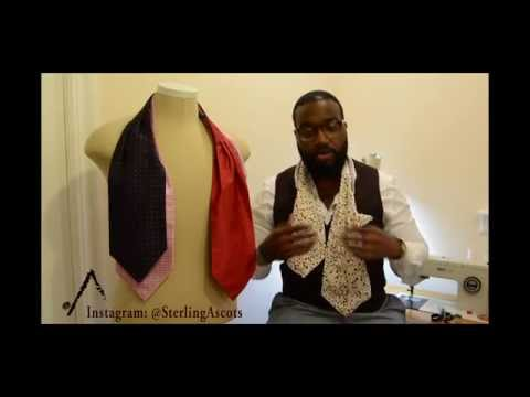 How to tie an Ascot (Cravat) - Sterling Ascots