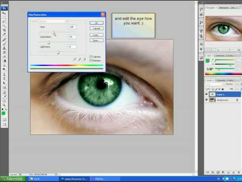 how change eye color easy adobe photoshop cs3