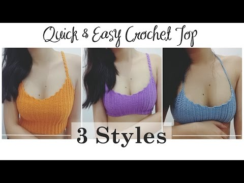 How to Make Easy & Quick Crochet Top (3 Styles)