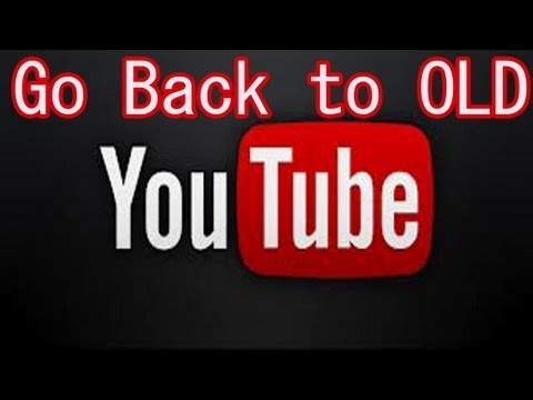How to go back to the old YouTube Layout (New 2012)