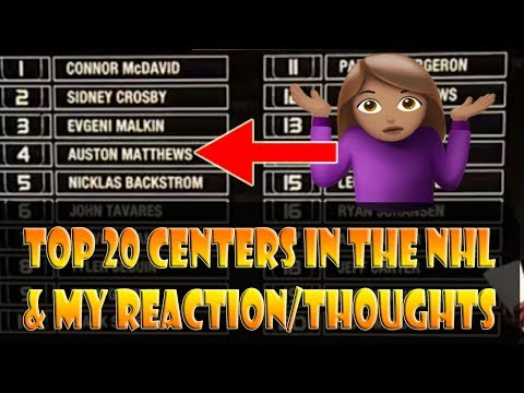 NHLs Top 20 Rated Center by NHL Network & My Reactions/Thoughts