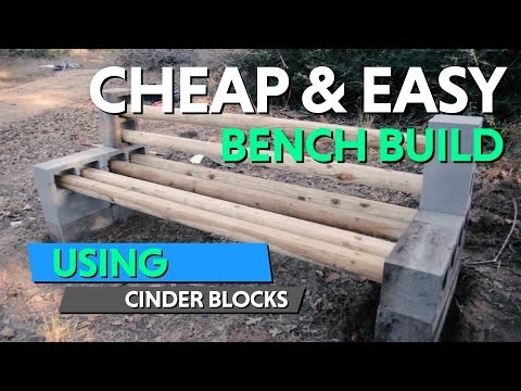How I Built This DIY Cinder Block Bench For Our  Future Homestead
