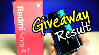 Redmi Note 8 Pro Giveaway Result 🔥