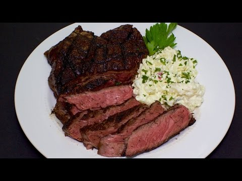 Rib Eye Steak on a Gas Grill with Michael's Home Cooking