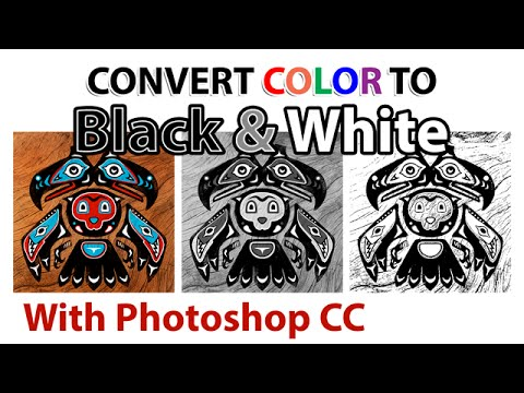 Convert Color Artwork to Black & White [Photoshop CC]