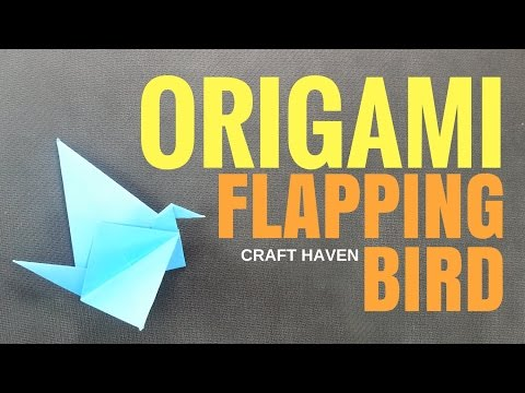 Origami Flapping Bird - Easy Origami Bird for Beginners - Paper Bird Step by Step Tutorial