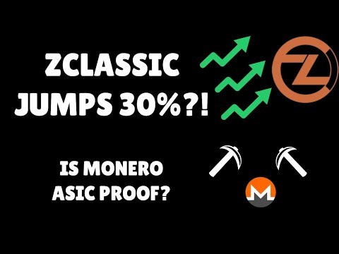 Monero (XMR) ASIC-proof? ZClassic (ZCL) jumps 30%! Bitcoin Private (BTCP) coming soon