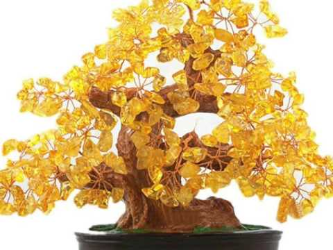 Natural Citrine Gem Stone Money Tree