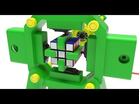 Fully 3D-Printed Rubik's Cube Solving Robot