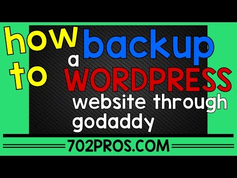 How To Backup a Website through Godaddy .com login - cpanel wordpress backup
