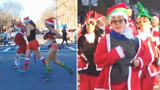 Santas Around The World Celebrate Giving To Charity