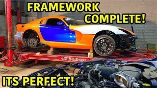 "Rebuilding A Wrecked 2014 Dodge Viper TA ""TIME ATTACK"" PART 13"
