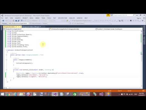 Change System Date Format using C#