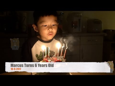 Marcus Turns 6 Years Old
