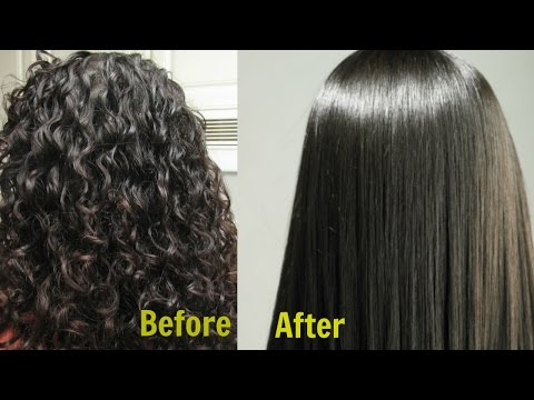 Permanent Hair Straightening at home in 3 Ways ||| Silk & shine Naturally