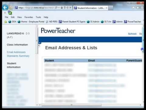 Teacher - Sending Mass Emails in PowerSchool