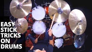 Drumstick illusions! Easy Stick Tricks on Drums   Rich Redmond