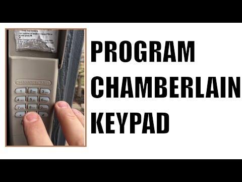 How to program Chamberlain Chamberlin Garage Door Keypad