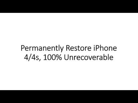 Completely Restore & Factory Reset iPhone 4/4s without iTunes