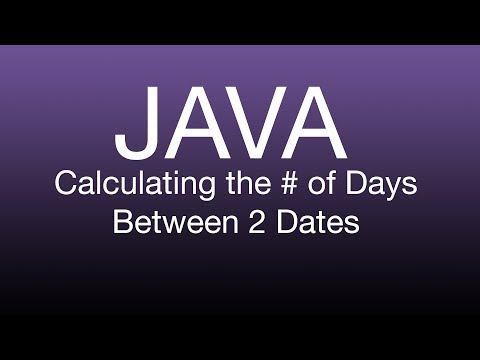 Java Calculate Days between Two Dates Tutorial