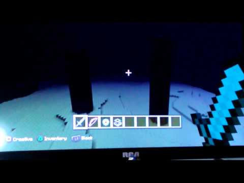 PS3 minecraft  how to defeat the Enderdragon