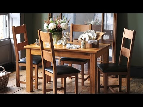 Rustic Oak Extending Dining Table (130cm-160cm) - PineSolutions